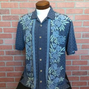 Tommy Bahama Mens silk Hawaiian Shirt size Large